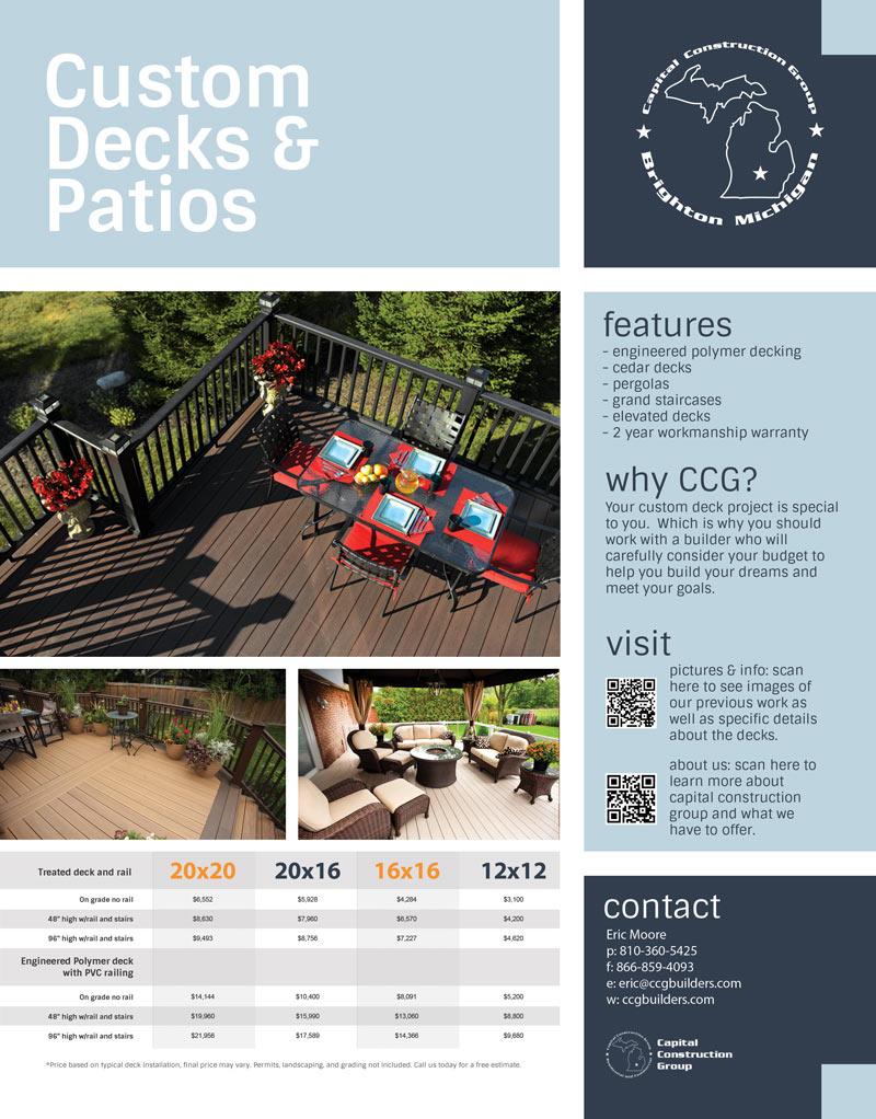 Custom Decks and Patios Pricing